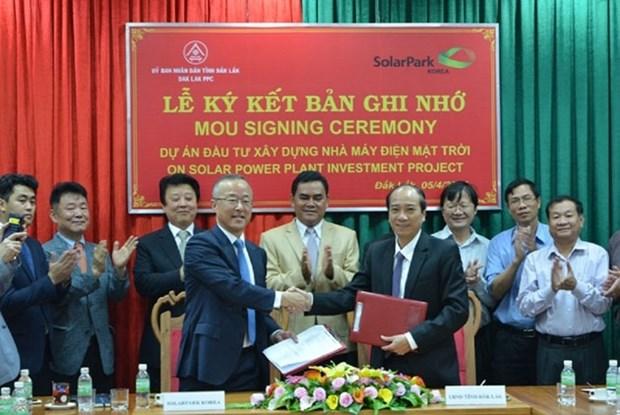 韩国企业在越南得乐省投资兴建太阳能发电厂 hinh anh 1