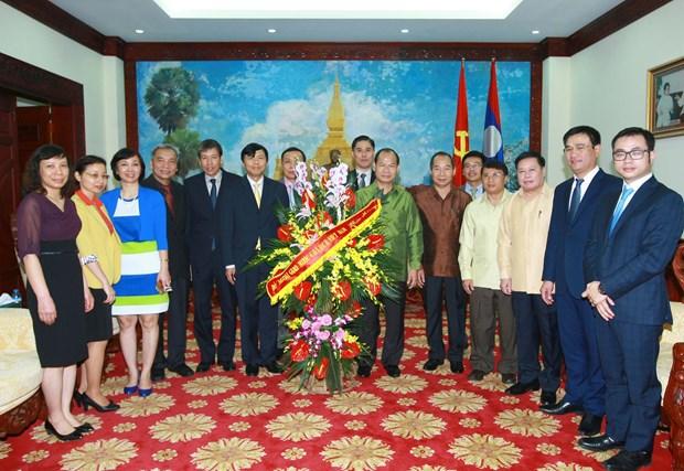越南外交部向老挝致以节日祝福 hinh anh 1