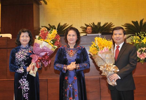 邓氏玉盛当选越南国家副主席 hinh anh 1