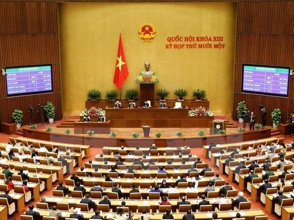 国会按程序免去国家选举委员会副主席和委员等职务 hinh anh 1