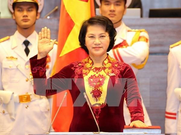 世界各国议会领导人致电祝贺阮氏金银当选越南国会主席职务 hinh anh 1