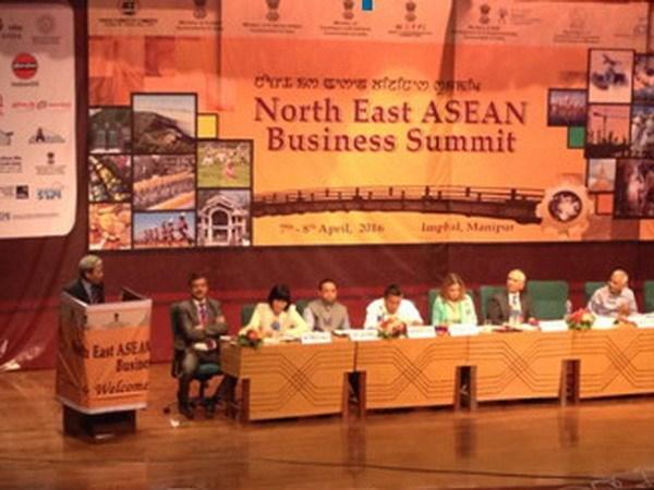 越南驻印度大使出席印度东北部与东盟各国经济对接会 hinh anh 1
