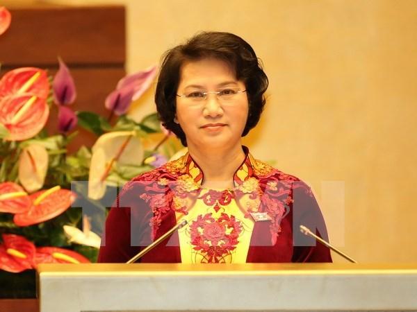 国会审议通过国家选举委员会和国防安全委员会副主席和委员提名人选名单 hinh anh 1