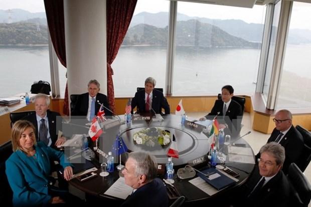 七国集团外长会议强调维护航行自由的重要性 hinh anh 1