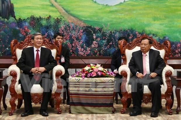 越南高级代表团对老挝进行正式访问 hinh anh 1