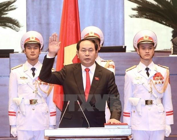 各国领导人向越南国家主席、政府总理和国会主席致贺电 hinh anh 1