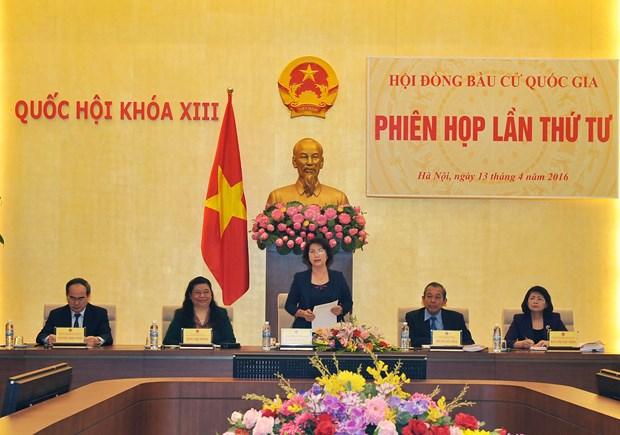 越南国家选举委员会召开第四次会议 hinh anh 1