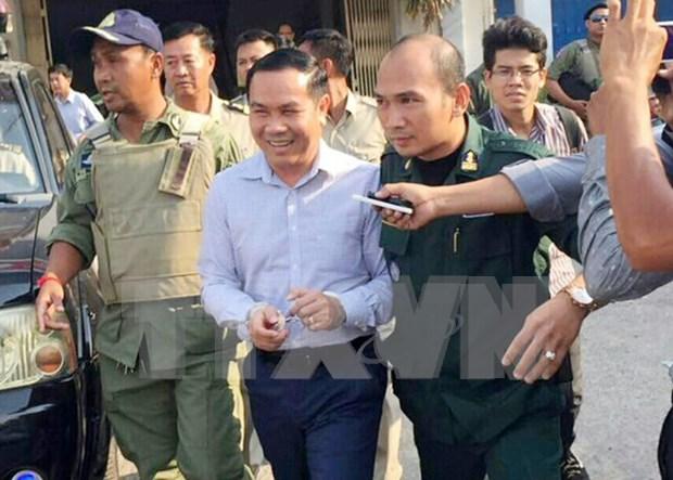 柬埔寨国会就反对党救国党议员翁松安被捕召开紧急会议 hinh anh 1