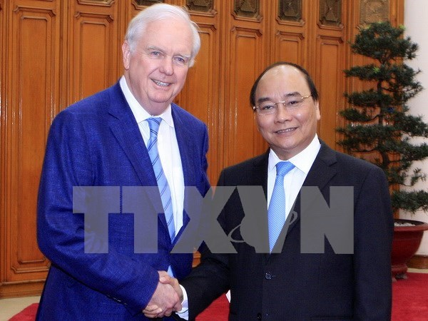 阮春福总理会见美国哈佛大学教授托马斯•瓦列利 hinh anh 1