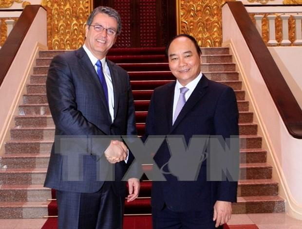 越南政府总理阮春福会见世贸组织总干事罗伯特·阿泽维多 hinh anh 1