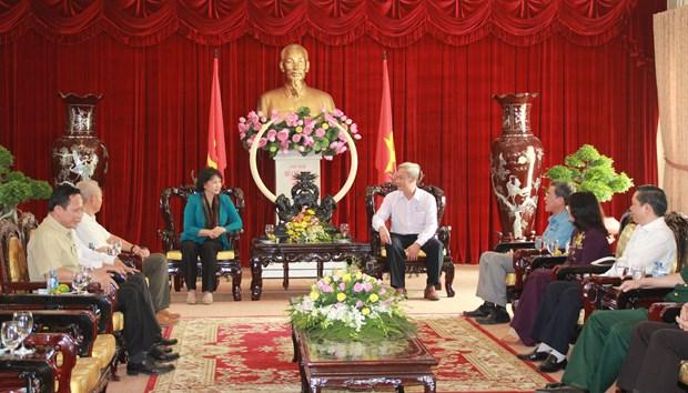 国会主席阮氏金银与奈省领导会面 hinh anh 1