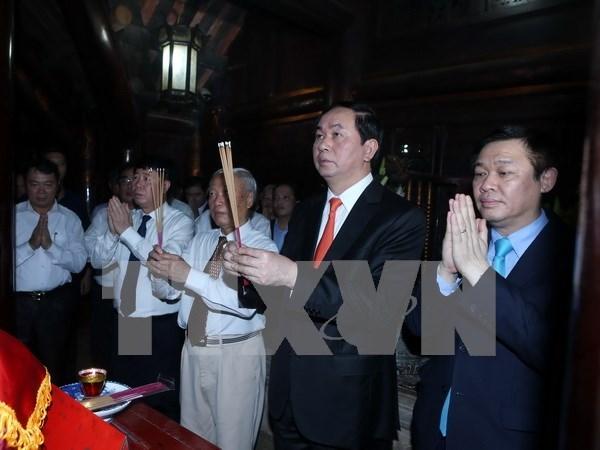 国家主席陈大光出席宁平省长安传统文化节 hinh anh 1