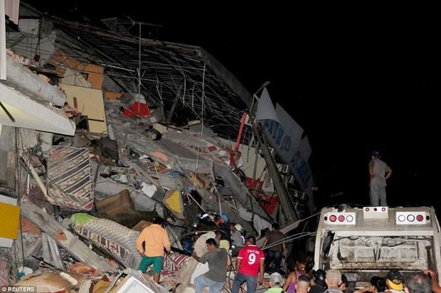 越南领导人对地震导致大量人员伤亡向厄瓜多尔领导表示慰问 hinh anh 1