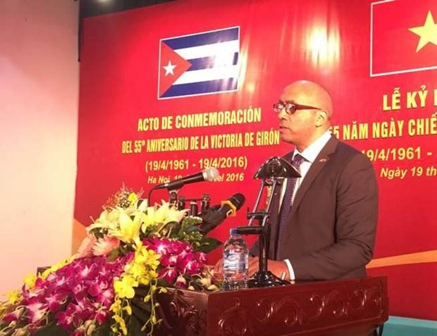 古巴吉隆滩战役胜利55周年纪念典礼在河内举行 hinh anh 1