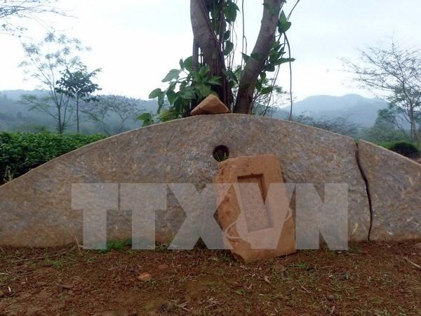 越南宣光省首次发现古石磬 hinh anh 1