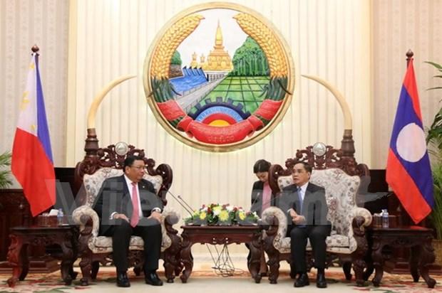 老挝与菲律宾加强合作 hinh anh 1