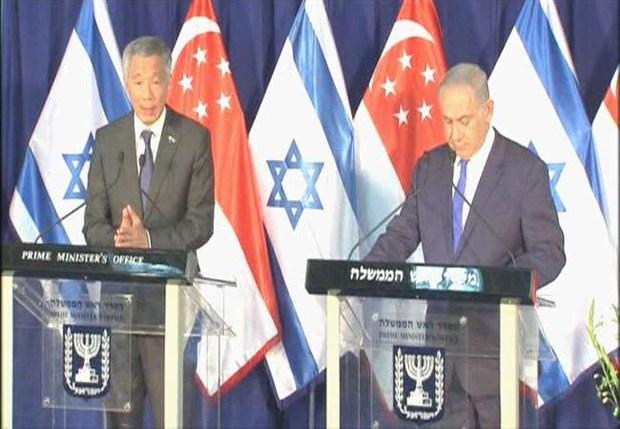 以色列和新加坡承诺共同推进广泛合作 hinh anh 1