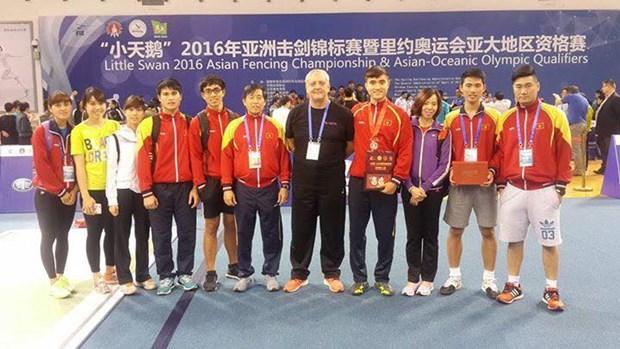 2016年亚洲击剑锦标赛:越南队获得两枚铜牌 hinh anh 1