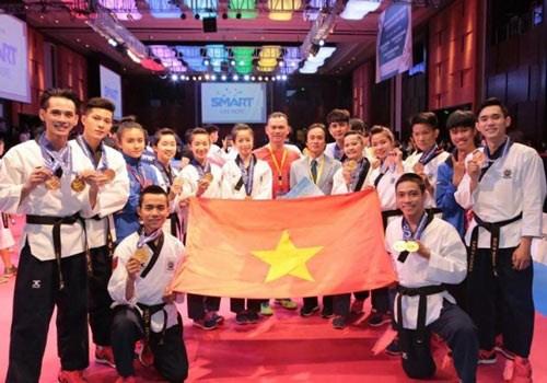 2016年第四届亚洲跆拳道品势锦标赛:越南队摘两金 hinh anh 1