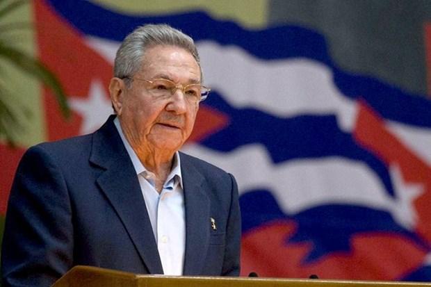 阮富仲总书记致电祝贺劳尔·卡斯特罗再次当选古巴共产党中央第一书记 hinh anh 1