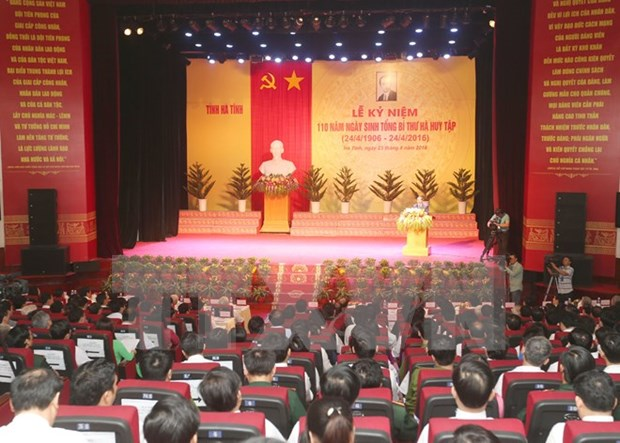 越共中央已故总书记何辉集诞辰110周年纪念典礼在河静省隆重举行 hinh anh 1