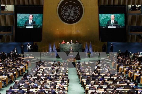 越南代表出席气候变化巴黎协定高级别签署仪式 hinh anh 1