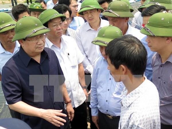郑廷勇副总理责成有关部门尽早确定河静省鱼类大量死亡的原因 hinh anh 1