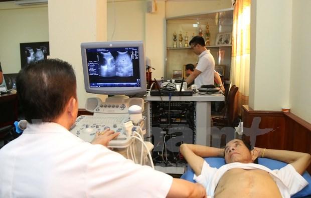 越南人民军援建老挝军医院远程医疗系统投入使用 hinh anh 1