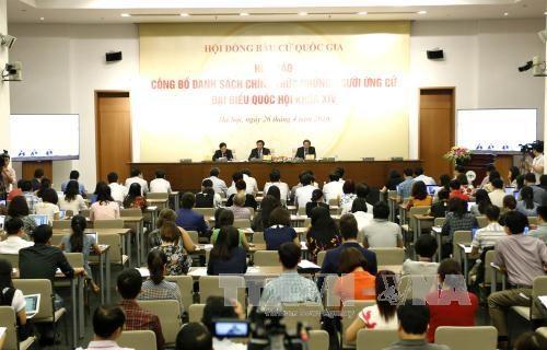 越南第十四届国会代表候选人正式名单出炉 hinh anh 1