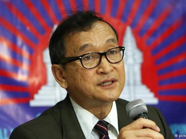 柬埔寨法院再次向反对党救国党领袖桑兰西发出传票 hinh anh 1