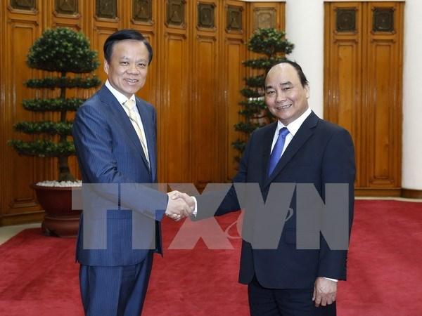 越南政府总理阮春福会见中国贵州省委书记陈敏尔 hinh anh 1