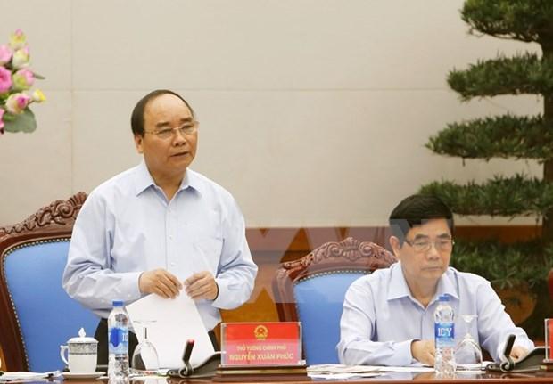 阮春福总理主持全国食品卫生安全保障工作视频会议 hinh anh 1