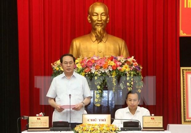 越南国家主席陈大光赴岘港市调研 hinh anh 1