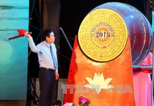 越南政府副总理王廷惠出席2016年炉门旅游节开幕式 hinh anh 1
