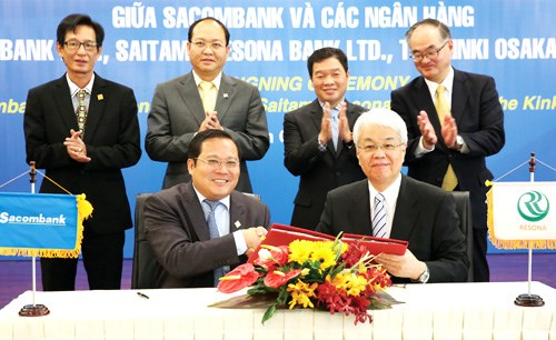 越南西贡商信银行与日本三家银行签署拓展客户群的谅解备忘录 hinh anh 1