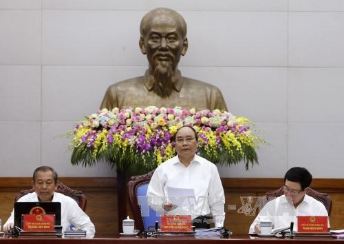 越南政府召开4月份例行会议:巩固企业信心 hinh anh 1