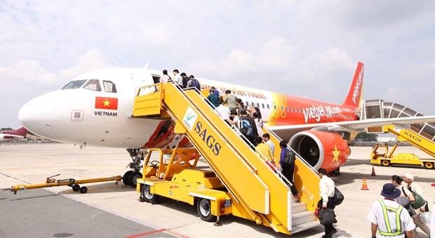 4•30和5•1假期期间越捷航空公司共计执行航班1700班次 hinh anh 1