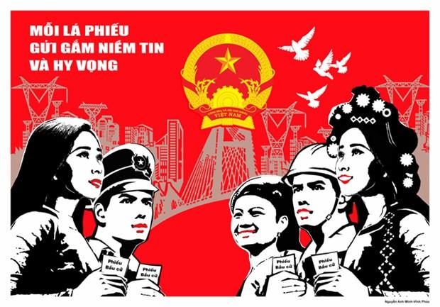 胡志明市举行各项活动庆祝新一届国会和地方各级人民议会代表选举 hinh anh 1