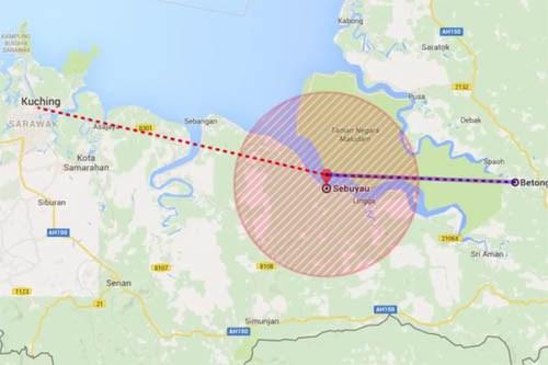 马来西亚一架载有6人直升机失联 hinh anh 1