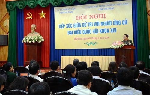 越南国防部长吴春历与河南省选人见面 hinh anh 1