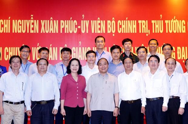 阮春福总理:学生是教育工作的核心对象 hinh anh 1