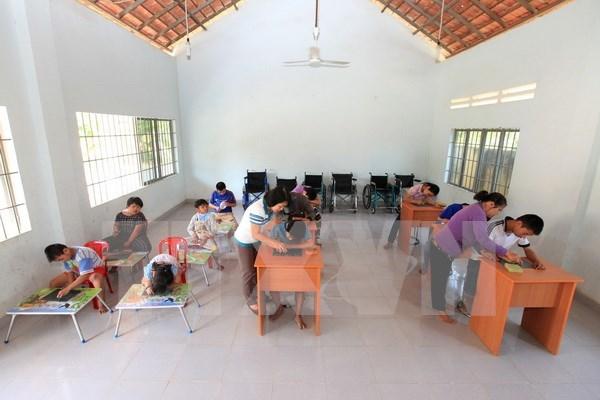 越英友好协会积极为越南橙毒剂受害者开展帮扶活动 hinh anh 1