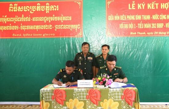 越南同塔省与柬埔寨波罗勉省签署2016年合作协议 hinh anh 1