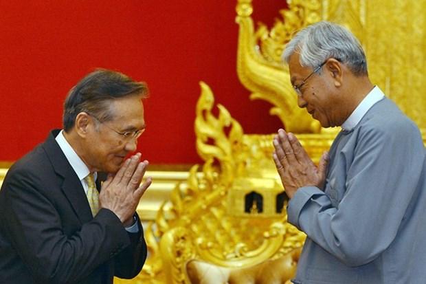 缅甸与泰国推进双方关系 hinh anh 1