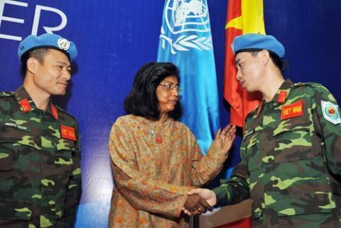 越南要争取国际社会在维和领域的有力支持 hinh anh 1