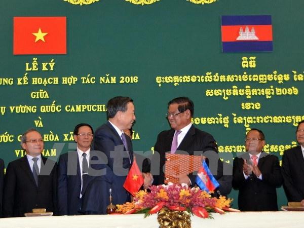 越南公安部部长苏林对柬埔寨进行工作访问 hinh anh 1