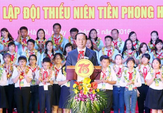 越南国家主席陈大光:为少年儿童全面发展提供平等机会 hinh anh 1
