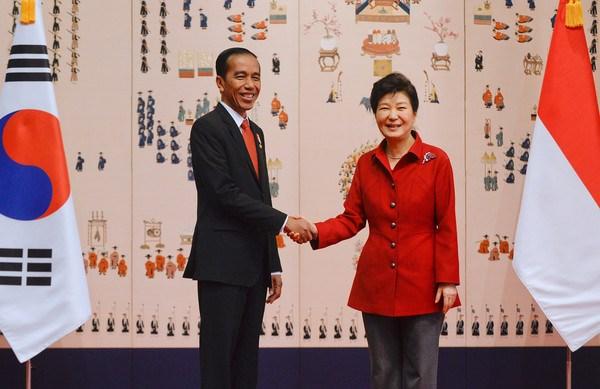 印尼与韩国签署多项合作协议 hinh anh 1