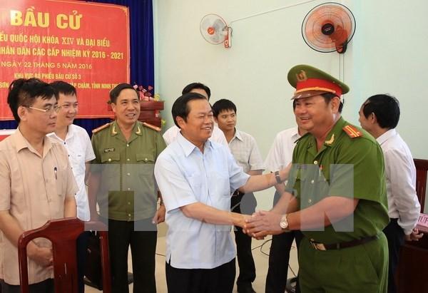 国会和各级人民议会换届选举:保障社会治安秩序 hinh anh 1