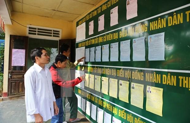 越南祖国阵线中央委员会主席阮善仁:换届选举各项准备工作全部就绪 hinh anh 1